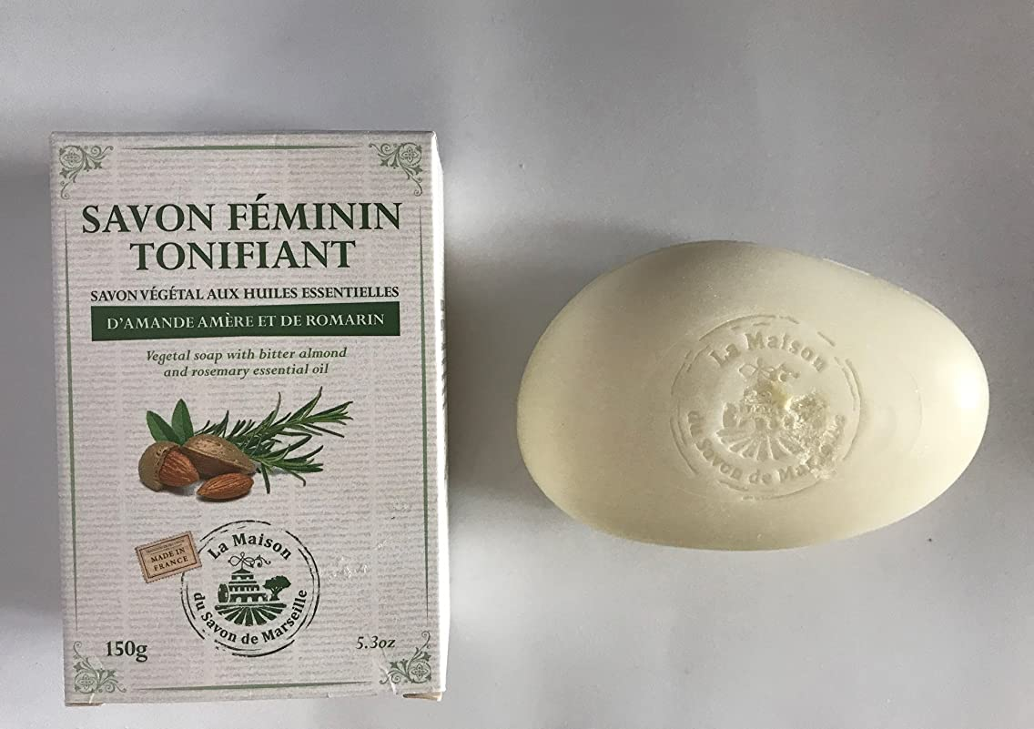 トラップ再現するピニオンSavon de Marseille Soap with essential oils,Feminin tonifiant 150g