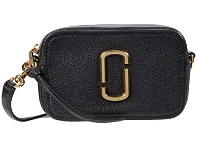 Marc Jacobs The Softshot 17 Crossbody (Black) Cross Body Handbags