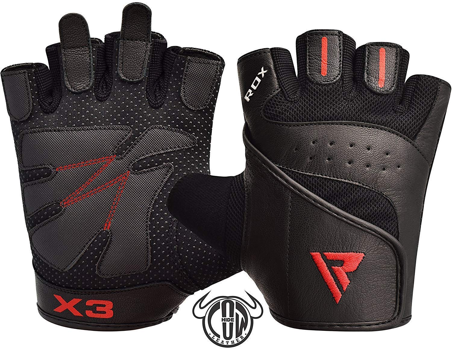 Breathable with Padded Anti Slip Palm Protection RDX Weight Lifting Gloves for Gym Workout Weightlifting Cycling /& Exercise Great for Fitness powerlifting Strength Training Bodybuilding