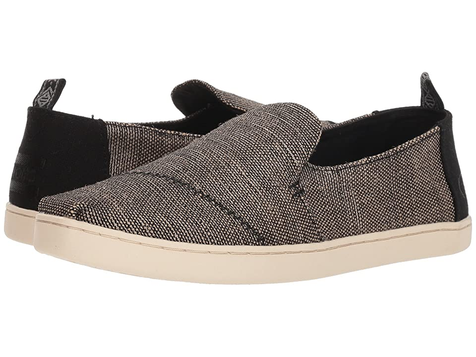 TOMS Deconstructed Alpargata (Black Metallic Woven) Women