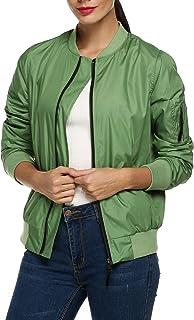58b7d4804e2a48 Zeagoo Womens Classic Quilted Jacket Short Bomber Jacket Coat