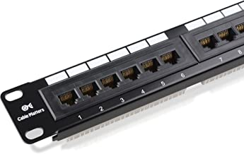 Cable Matters UL Listed Rackmount or Wall Mount 24 Port Cat6 Patch Panel (Cat 6 RJ45 Patch Panel)
