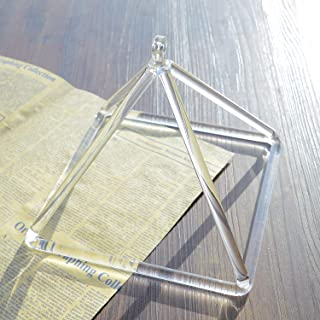 TOPFUND Crystal Singing Pyramid 8 inch with Crystal Singing Bowl Mallet Quartz Suede Striker
