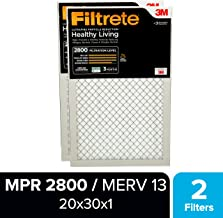 Filtrete 20x30x1, AC Furnace Air Filter, MPR 2800, Healthy Living Ultrafine Particle Reduction, 2-Pack