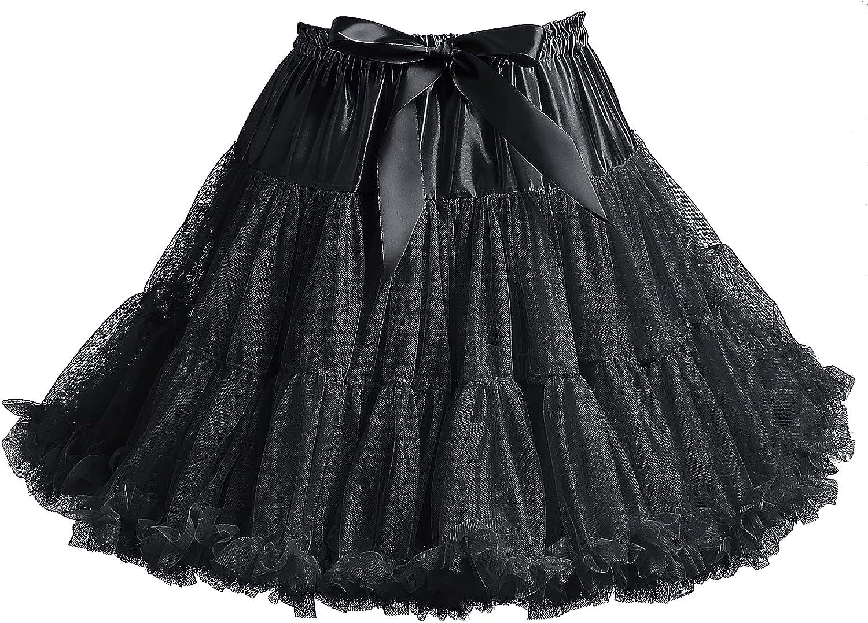 Women's Petticoat Skirt Chiffon Dress Tulle Skirt Tutu Party Cosplay Skirt