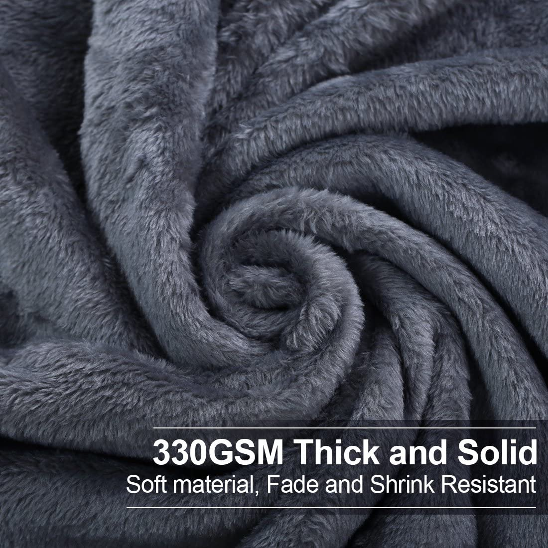 Soft Twin Size Blanket All Season Warm Fuzzy Microplush Lightweight Thermal Fleece Blankets for Couch Bed Sofa,66x90 Inches,Chocolate