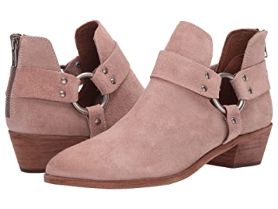 Frye Ray Harness Back Zip (Pale Blush Hairy Suede) Women