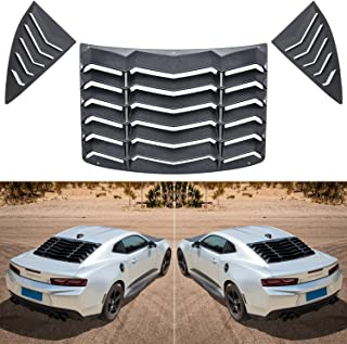 E-cowlboy Rear&Side Window Louver for Chevrolet Camaro 2010~2015 Sun Shade Cover in GT Lambo Style Custom Fit - All Weather (Matte Black)