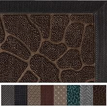 Gorilla Grip Original Durable Rubber Door Mat, 47x35, Heavy Duty Doormat for Indoor Outdoor, Waterproof, Easy Clean, Low-Profile Rug Mats for Winter Snow, Entry, High Traffic Areas, Dark Brown Pebble