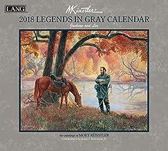 2018 The Lang Mort Kunstler Legends in Gray Wall Calendar