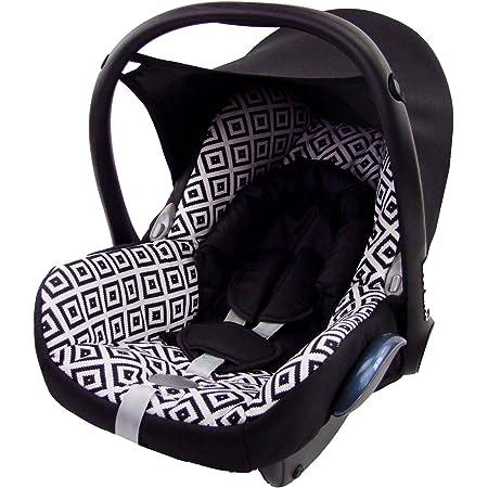 Bambiniwelt Ersatzbezug Für Maxi Cosi Cabriofix 6 Tlg Bezug Für Babyschale Komplett Set Schwarz Weiss Karos Xx Baby