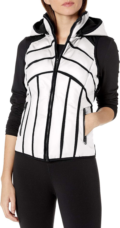 Blanc Noir Women's Liquid Rubber Mesh Inset Vest