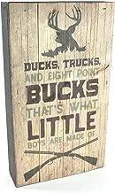 MRC Wood Products Ducks Trucks and 8 Point Bucks Pallet Box Sign 6x10