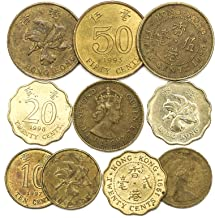 10 Old Coins from Hong Kong. Coins from Southern Asia – The Special Administrative Region of The People's Republic of China. Collectible Coins Cents