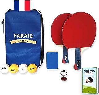 comprar comparacion FAKAIS Palas de Ping-Pong profesional, 2 Raquetas - 4 Pelotas pingpong, Bolas - Bolsa de Almacenamiento Segura, esponja de...