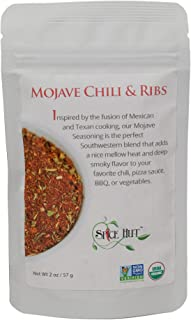 The Spice Hut Organic Mojave Chili & Ribs Seasoning, Spice Blend for Southwestern Tex-Mex Cooking, 2 ounce