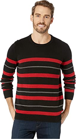 Long Sleeve Striped Sweater Crew