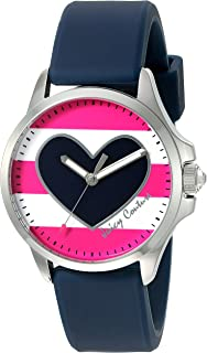 Juicy Couture Women's 'Jetsetter' Quartz Stainless Steel and Silicone Quartz Watch, Color:Blue (Model: 1901439)