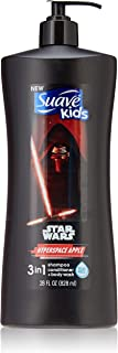Suave Kids 3 In 1: Shampoo + Conditioner+ Body Wash Star Wars Kylo Ren Hyperspace Apple, 28 Ounce