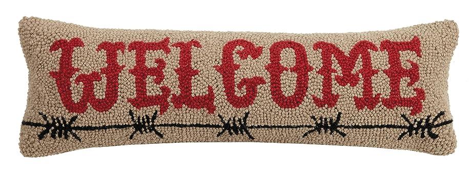 シソーラス店主ビヨンPeking Handicraft Welcome Barbed Wireフック枕、8?x 24?