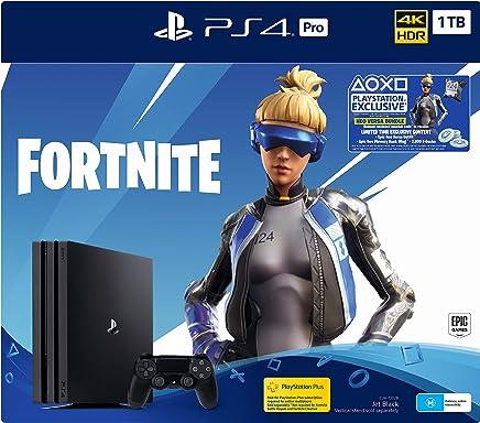 """NEW"" PS4 Pro 1TB Console Fortnite Neo Versa Bundle + 2000 V-Bucks, Pro Black (Fortnite)"
