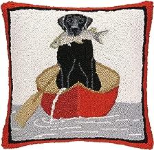 Peking Handicraft Lab Canoe Hook Pillow, 18 by 18-Inch, Black