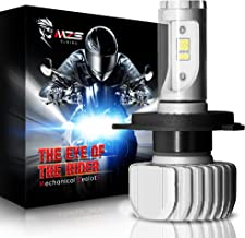 MZS Motorcycle H4 9003 LED Headlight Bulb Single w/Adjustable Angle,DIY Multi-color Conversion Kit - CSP Y19 Chips 6500K 3,600Lm Cool White