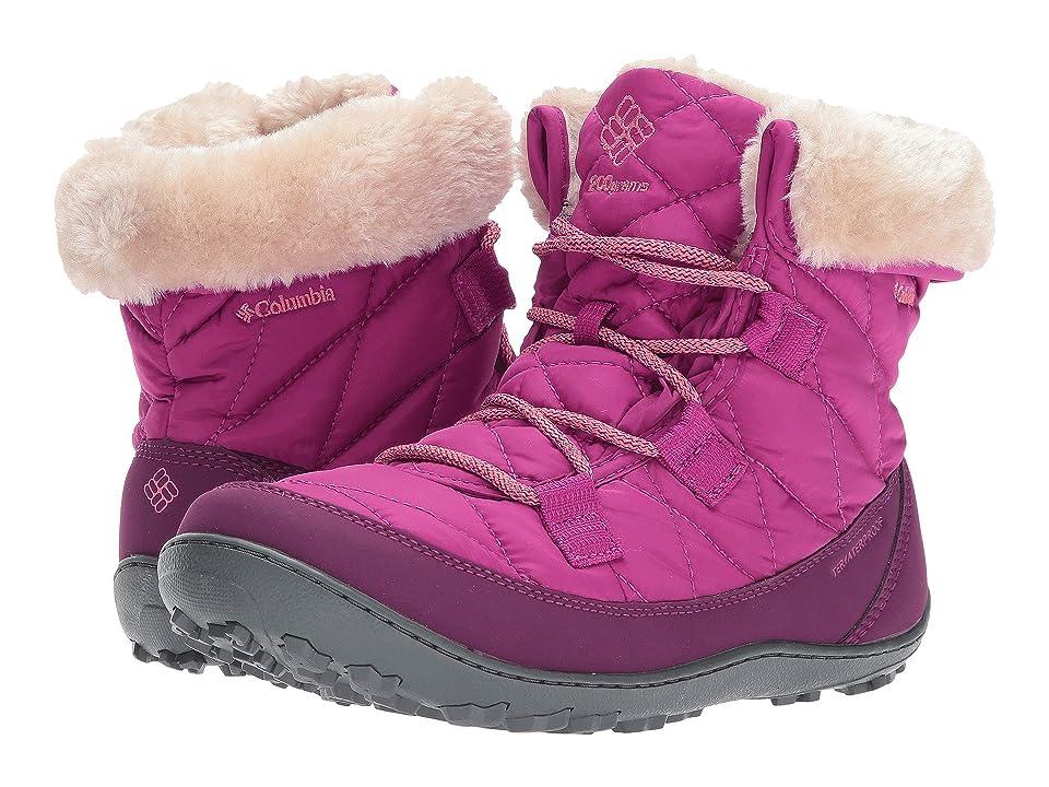 Columbia Kids Minx Shorty Omni-Heat Waterproof (Little Kid/Big Kid) (Deep Blush/Bright Peach) Girls Shoes