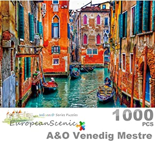 Ingooood- Jigsaw Puzzle 1000 Pieces- European Scenic Series- A&O Venedig Mestre_IG-0436 Entertainment Wooden Puzzles Toys