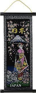 キャッスルエンタープライズ デザイン小物 マルチ 縦41×横18cm 日本のお土産 掛け軸 富士姫 豆 SC101