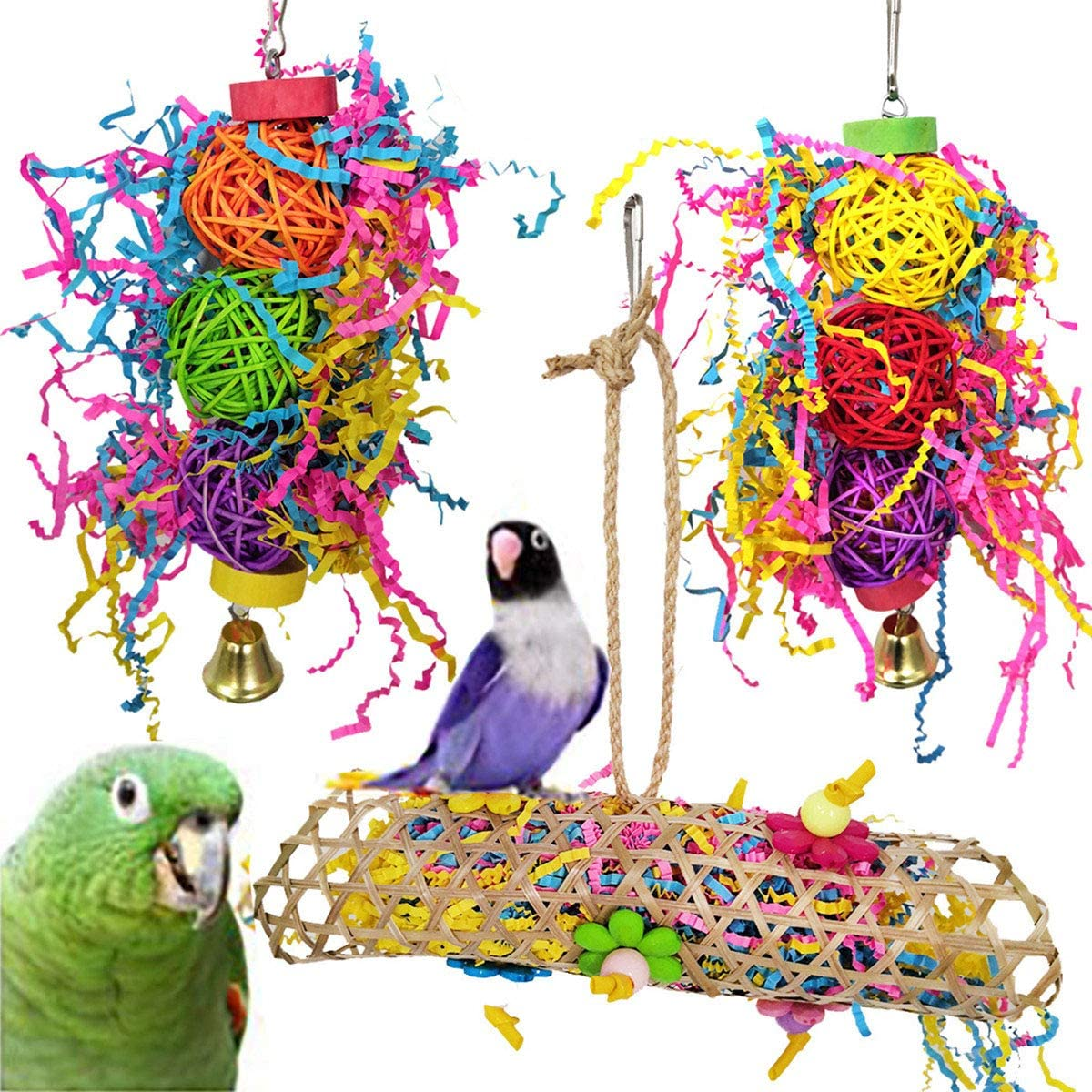 Minelife 3 It is very popular Pack Bird Parrot Chewing Cage Toys Very popular