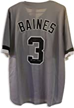 Harold Baines Chicago White Sox Autographed Gray Jersey Inscribed