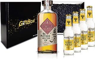 Gin Tonic Giftbox Geschenkset - Citadelle No Mistake Old Tom Gin 50cl 40% Vol  4x Fever Tree Tonic Water 200ml inkl. Pfand MEHRWEG - Enthält Sulfite