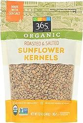 365 Everyday Value, Organic Sunflower Kernels Roasted & Salted, 12 oz
