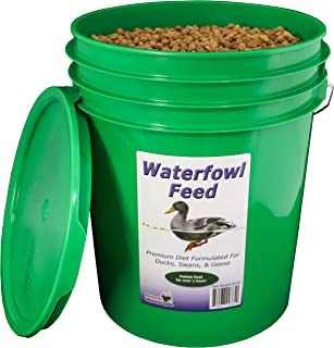 Natural Waterscapes Waterfowl Feed   Floating Pellets for Duck, Swan, Goose   20 lb Pail