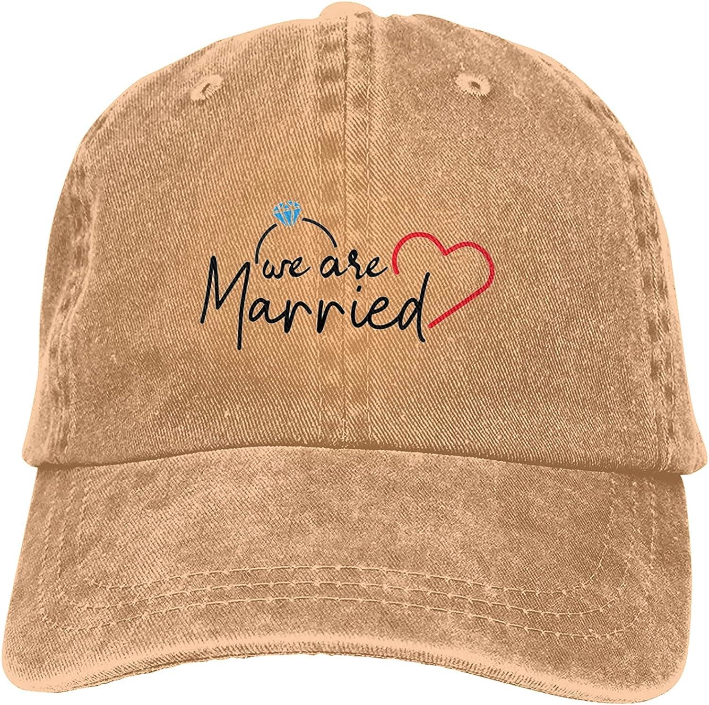 We are Married Unisex Baseball Cap Adjustable Dad Hat Washable Cowboy Hat Black