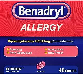 Benadryl Allergy Ultratab Tablets - 48 ct, Pack of 3