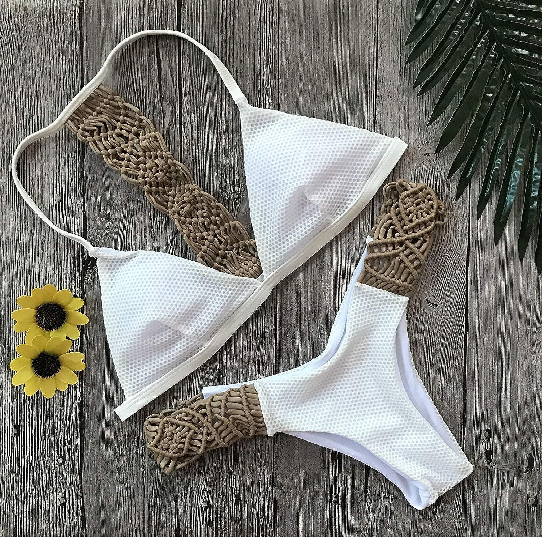 ZHRUI New Rope Weißer Badeanzug Bikini Bikini Bikini (Farbe   L, Größe   -) B07MPNX5DT  Guter weltweiter Ruf 7fda7f