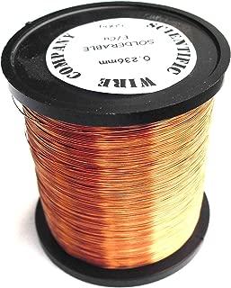 Esmaltado de cobre alambre de bobinado 0,25mm 30AWG Calibre 33de 500gramos Solderable