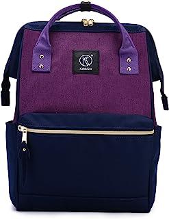Kah&Kee Polyester Travel Backpack Functional Anti-theft School Laptop for Women Men