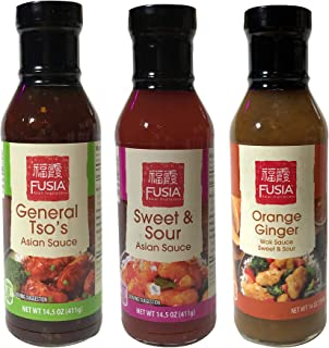 FUSIA Asian Inspirations Stir-Fry and Dipping Sauces 14 oz (Stir-Fry Variety, 3)