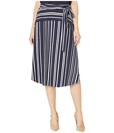 Tommy Bahama Anoche Stripe Midi Skirt (Black) Women