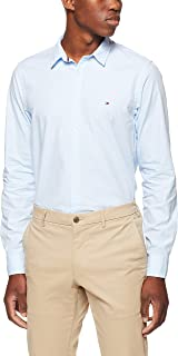 Tommy Hilifiger Men's Mini Hounds Tooth Shirt, Blue/Bright White