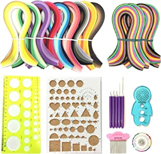 Anndason 23 in 1 Paper Quilling Set & 36 Colors 900 Strips (Gradient Color) + 36 Colors 720 Strips (Mix and Bright) and 10 Tools Quilling DIY & Paper Width 3mm