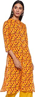 Amazon Brand - Myx Women's Cotton A-Line Kurti