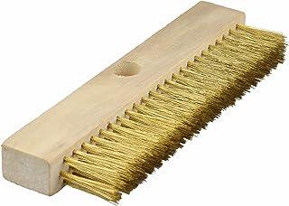 ECENCE Cepillo de Alambre con cerdas de latón onduladas, Limpieza de hornos de Pizza, hornos de leña, ahumadores, Cepillo ...