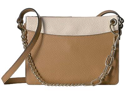 Vince Camuto Liya Crossbody (Oak/Seashell) Cross Body Handbags