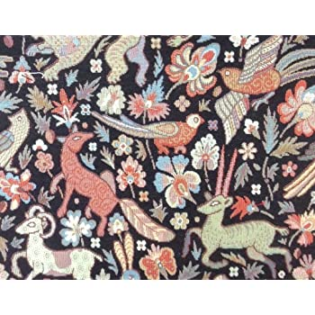 10 meters of brown flowers  Upholstery Edge Fabric clearance