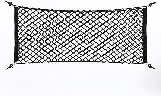 Filet Rangement Voiture – Delaman Organisateur en Maille pour Coffre Voiture en Nylon Élastique Flexible avec 4 Crochets A...