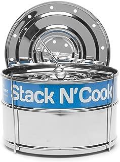 3 Qt Stack N' Cook Stackable Insert Pans & Sling - Instant Pot Accessories for 3, 6, 8 Qt Baking, Casseroles & Lasagna Pans, Food Steamer - Pressure Cooker Pot in Pot Accessories - Interchangeable Lid